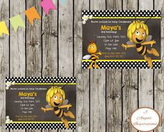 Hey, I found this really awesome Etsy listing at https://www.etsy.com/listing/220986285/maya-the-bee-birthday-invitation-print