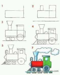 : learn to draw vehicles Art Drawings For Kids, Doodle Drawings, Drawing For Kids, Easy Drawings, Doodle Art, Art For Kids, Drawing Lessons, Drawing Techniques, Art Lessons