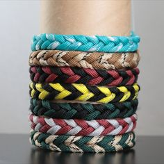 Minimalist paracord bracelet, Two colored men's, women's bracelet
