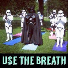 It helps you not force choke people! #YogaTips102