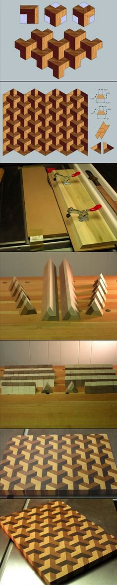Steps Cutting Board Version 2 / This is a second generation Steps cutting board…