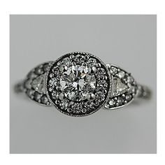 Estate 14 Kt White Gold Tacori Replica Art Deco Engagement Ring