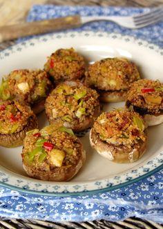 Cinco Quartos de Laranja: Cogumelos recheados com cuscuz de espelta