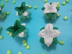 Flor de origami - Lembracinha