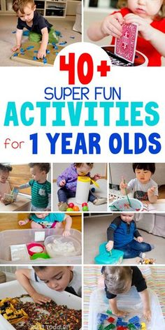 40+ Fun & Easy Activities for 1 Year Olds - Busy Toddler