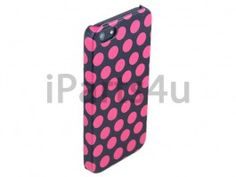 Hardcover Snap Case iPhone 5 Stippen Roze