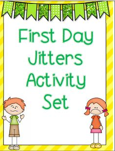 First day jitters activity set common core aligned