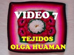 "colcha a crochet: video 7, muestra ""PENSAMIENTO"" - YouTube"