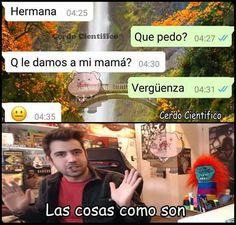 Las cosas como son OKNO XDXDXD Funny Spanish Memes, Spanish Humor, Stupid Funny Memes, Funny Quotes, Funny Stuff, New Memes, Dankest Memes, Funny Images, Funny Pictures