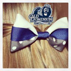 Old Dominion University Tuxedo Hair Bow http://www.etsy.com/listing/150961854/odu-old-dominion-university-hairbow