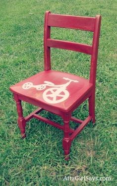 recycled hand painted child s chair starlight pinterest