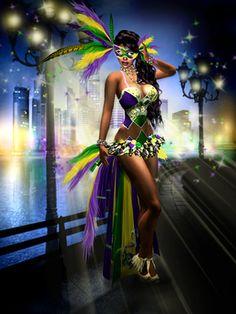 ATOI Mardi Gras Outfit~Mardi Gras~Burlesque~Showgirl