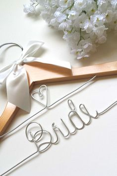 These bridal wedding dress hangers are a great way to make the wedding day photos extra special.. Perfect as a gift for the bride! Makes for wonderful photographs on the wedding day. * ALL orders now
