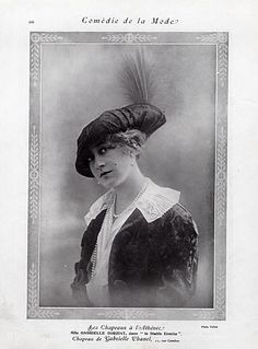 Chanel (Hat) 1912 Gabrielle Dorziat