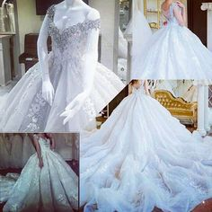 Great Royal wedding dress with cathedral train ru hautecouture
