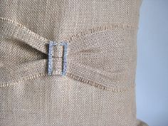 Could I Get a Little Bling With My Burlap Pillow Cover.