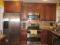 Provincial Autumn Kitchen Cabinets from a customers finished kitchen.
