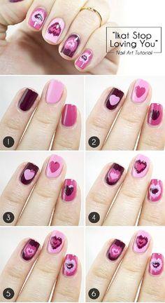 Valentine S Day Nail Art Tutorials Heart Nails