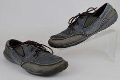 Merrell Barefoot Granite Men's Sz 11 Black Gray Canvas Lace Up Minimalist Shoes #Merrell #HikingTrail