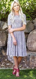 Emmy Grey Lace Dress