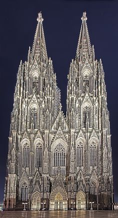Gothic Cologne Cathedral, Köln, Germany.
