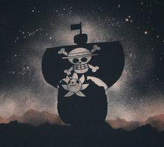 """Bâteaux vaisseau nommé le """"Thousand Sunny Ship"""" du « Capitaine LUffY Monkey D. » au surnom """"le Chapeau Paille"""" ~ Tableau Peint à la main. ~ ⚓_Øne_Piece_⚓"""