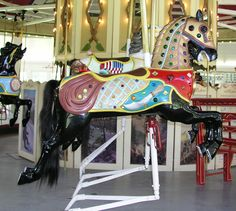 carousel lead horses | ... Village Carousel - Armored Outside Row Jumper - The Lead Horse