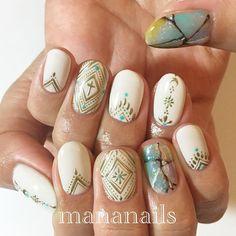 いいね!30件、コメント5件 ― Izumiさん(@20summersnow)のInstagramアカウント: 「Nails for my trip to Mexico♡ . By @mananails .  ホテルでも飛行機でもネイル可愛いね!と言われて上機嫌な旅だった シールじゃないよ、手描きだよ。…」