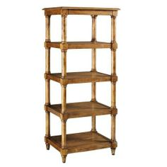 """Montaigne Open Linen Tower, 56.5""""Hx23.5""""W, WEATHERED OAK by Home Decorators Collection. $369.00. 56.5""""H x 23.5""""W x 17.5""""D.. Fun, functional and full of sophistication, the Montaigne Open Linen Tower will enhance you home decor while providing convenient storage. With four open shelves for linens, towels, home accent and more, this storage essential is the perfect addition to an unused wall space. Add it to your home today. Wood frame will last for years as part of your home..."""