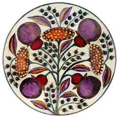 Vintage ceramic plate. Birger Kaipiainen - finland