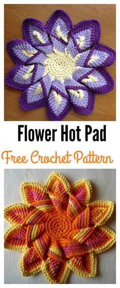 Flower Hot Pad Free Crochet Pattern