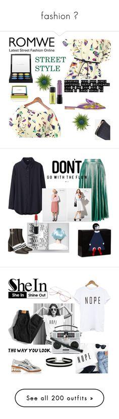 """fashion 👵"" by lianafourmouzi ❤ liked on Polyvore featuring MAC Cosmetics, Alberta Ferretti, Uniqlo, Gucci, GET LOST, Lulu Guinness, GCDS, Dolce&Gabbana, Nicholas Kirkwood and Levi's"