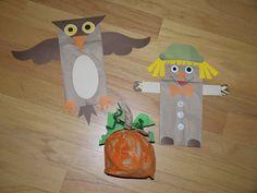 owl crafts for kids paper bag | Autumn Paper Bag Crafts