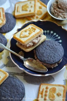 Frozen Peanut Butter & Jelly Cookie Sandwiches – Faith, Hope, Love, & Luck Survive Despite a Whiskered Accomplice