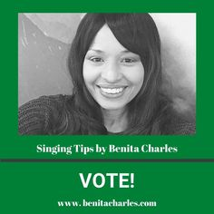 Singing Tips By Benita Charles: Let your voice be heard and Exercise your right to vote. VOTE! #singingtipsbybenitacharles #letyourvoicebeheard #exerciseyouright #vote #success #experience #letyourlightshine #shareyourgifts #buildyourlegacy #singingtips #artistdevelopment #benitacharlesmusic