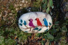 Felted Soap Merino Wool Three Birds by BondurantMountainArt, $10.00