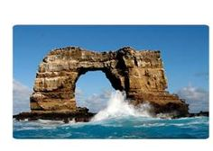 "I want to dive here, at ""the arch"" in the Galapagos Islands."