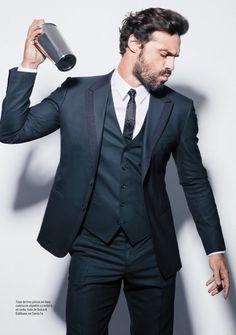 Ivan Sanchez, make me that drank! Sharp Dressed Man, Well Dressed Men, Gorgeous Men, Beautiful People, Ivan Sanchez, Awesome Beards, Latin Music, Dress Hairstyles, Actor Model