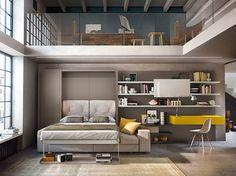 Muebles multifuncionales. Cama escamoteable #mueble #multifuncion #furniture #multifunction #bed #retractable