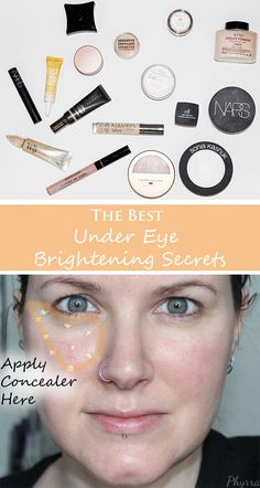 Best Under Eye Brightening Secrets! Phyrra shares the best concealers, powders and moisturizers for brightening dark circles.