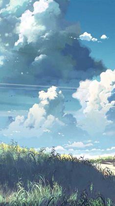 Green grass and big clouds illustration art Anime Scenery Wallpaper, Landscape Wallpaper, Fantasy Landscape, Landscape Art, Green Landscape, Landscape Paintings, Fantasy Art, Fille Ecchi, Arte 8 Bits