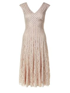 Buy Jacques Vert Taped Lace Dress, Light Brown from our Women's Dresses Offers range at John Lewis & Partners. Off White Lace Dress, Knee Length Cocktail Dress, Cocktail Dresses, Mother Of Bride Outfits, Groom Dress, Elegant Dresses, Lace Dresses, Retro, Special Occasion Dresses