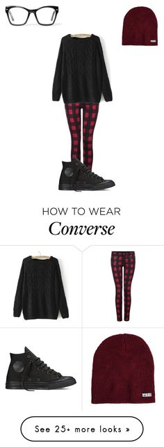 """""""Untitled #137"""" by kyleruniverse on Polyvore featuring Dex, Neff, Converse, Spitfire, women's clothing, women's fashion, women, female, woman and misses"""