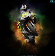 Sign Valentino Rossi - 46 @ gL. designer
