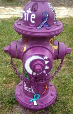 Ribbons Fire Hydrant Art