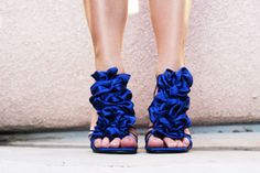 Date Night DIY: Add Silky Ruffles to Your Pumps