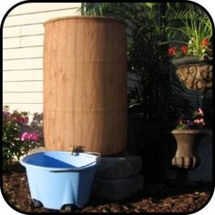 COVERS for your Rain Barrel!  Wood grain, Tropical Lilies, American Flags N' MORE! Made in the USA In New Mexico at 2,000' elevation-NO fading!!  One-size-fits-all (hee-hee!)