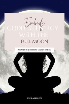 Tap into your true goddess energy with the help of the Full Moon. Step into your feminine power to surrender, heal and transcend! #fullmoonmanifesting #fullmoonmeditation #feminineenergy #goddessenergy Energy Healing Spirituality, Spiritual Manifestation, Spirituality Books, Spiritual Guidance, Spiritual Life, Spiritual Awakening, Meditation For Beginners, Meditation Techniques, Feminine Energy