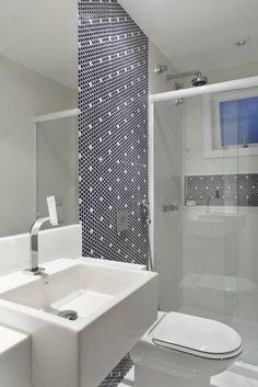 Casa Jardim Ubá VM: Banheiros translation missing: br. Easy Home Decor, Home Decor Trends, Decor Ideas, House Of Mirrors, Apartment Bathroom Design, Interior Design Boards, Cool Apartments, Look Cool, Decoration