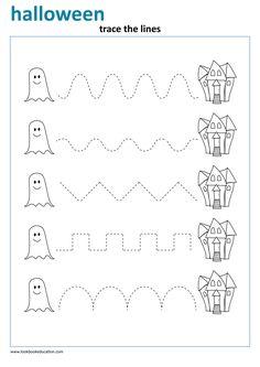 Worksheet Halloween Tracing - LookbookEducation.com